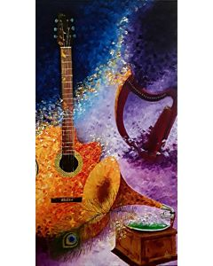 still life art,Something highly abstract can often be a good choice for the bedroom because it fuels your imagination