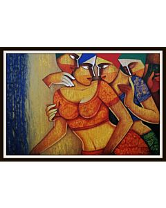 contemporary art,Gorgeous contemporary painting add colour to the Modern bedroom and will be eye-catching