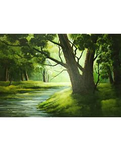 Scenery Painting ,original artwork that will bring a coherance of positivity and vibrance to the entire wall and room