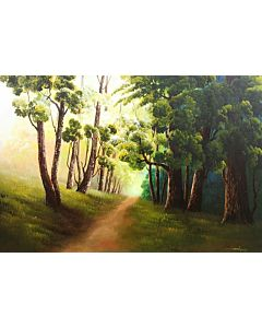 Scenery Painting,original artwork that will bring a coherance of positivity and vibrance to the entire wall and room