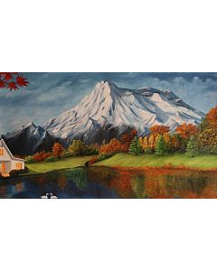scenery art,Riverside Scenery Painting to create the look and feel of the original nature