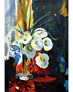 abstract painting,Daazzling floral Art painting that tranform the wall with the new look