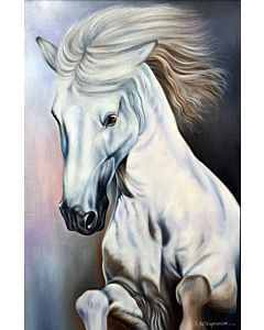realistic art,horse painting,Daazzling Large realistic painting that tranform the wall with the new look