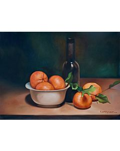 fruit painting,realistic art,oil painting can improve your home interiors