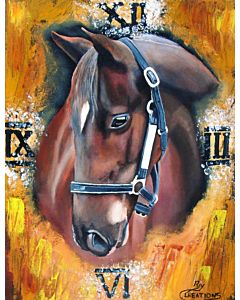 Stunning Majestic Horse painting will suitably fit your living room!