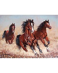 Stunning Running Horse painting will suitably fit your living room!