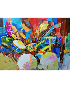 Jazz up your living spaces with modern art.  Art speaks louder than words!!