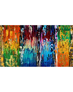 Abstract art is perfect for both modern and traditional spaces. Add some cheer to your home with a beautiful painting that reflects your creativity.  