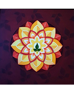 100% Hand Painted Canvas painting. Decorate your space with beautiful Flower Painting