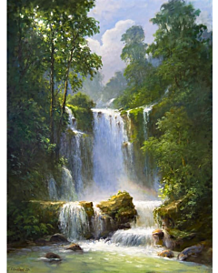 high quality Landscape Painting on canvas to create the look and feel of the original nature