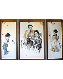 unrevealed beauty in Portrait painting best suitable for living room