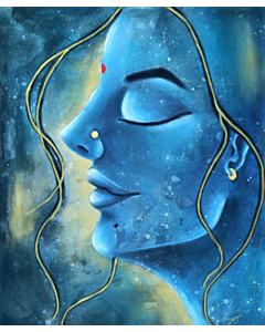 modern abstract painting by Top Indian Artist