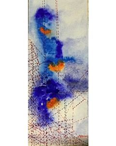 abstract painting,Gorgeous abstract painting add colour to the Modern bedroom and will be eye-catching