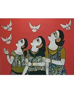 Indian Painting,Contemporary art,Beautiful contemporary art painting for living room