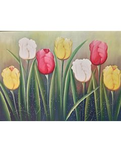 floral art,floral Painting that will take centre stage of your space