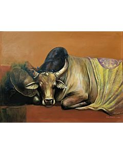 Stunning animal art painting will suitably fit your living room!