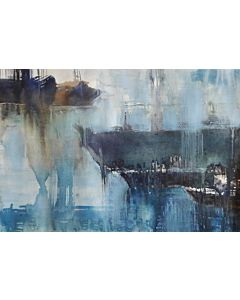 abstract wall art,Riverside Scenery Painting to create the look and feel of the original nature