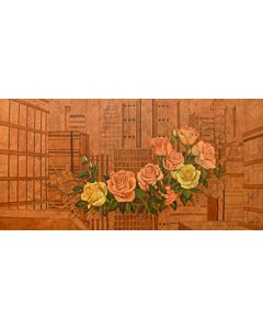 floral art,Riverside floral Painting to create the look and feel of the original nature