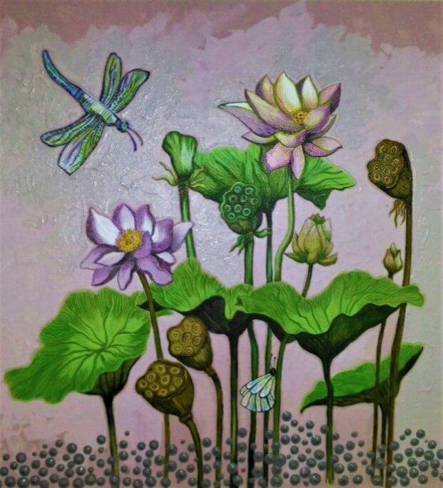 floral_art_lotus_pond
