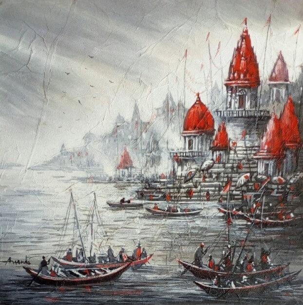 realistic_landscape_painting_varanasi